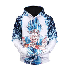 New Dragon Ball Goku Vegeta print hooded sweater