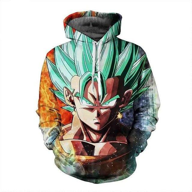 Anime Dragon Ball Vegeta long sleeve  3d printed sweatshirt