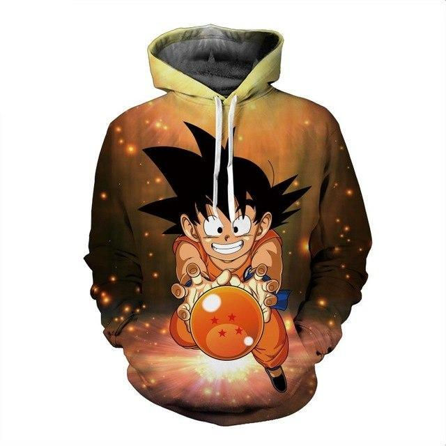 New anime  Dragon Ball Goku  3D hooded sweatshirt-Vimost Sports