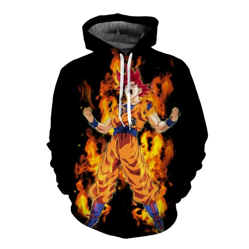 New cartoon anime  Dragon Ball 3D hooded sweatshirt