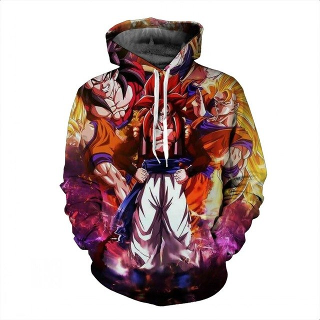 Super Saiyan Dragon Ball thin hooded hoodie sweatshirt