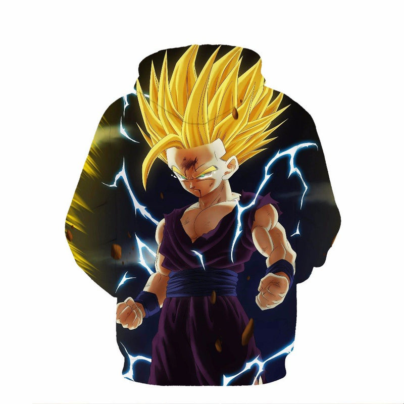 New Dragon Ball 3D Super Saiyan Gold Hooded Sweatshirt-Vimost Sports