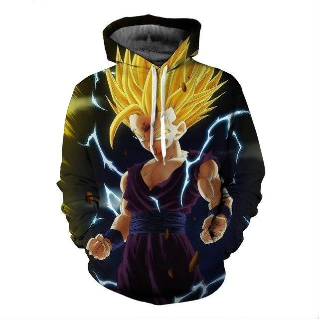 New Dragon Ball 3D Super Saiyan Gold Hooded Sweatshirt