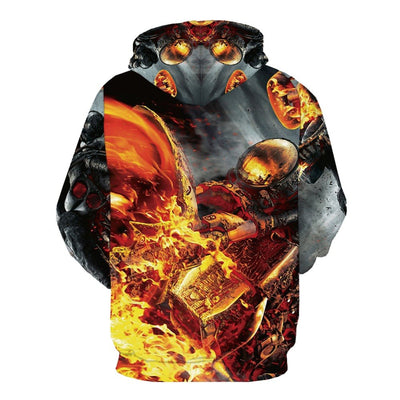 Fire 3d Printed Harajuku Casual Psychedelic Hoodie-Vimost Sports