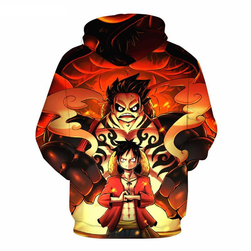 3D Print Anime One Piece Monkey Luffy Hoodies