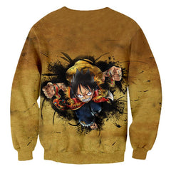 One Piece Luffy Hoody Jerseys Solid Casual Pullovers 3D Sweatshirts-Vimost Sports