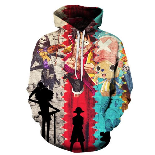 New Japan Anime One Piece Luffy 3D Print Hoodies
