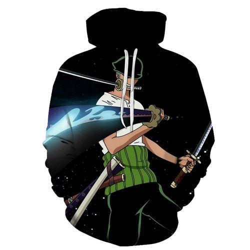 Anime One Piece Monkey D Luffy  3D Print Hoodies