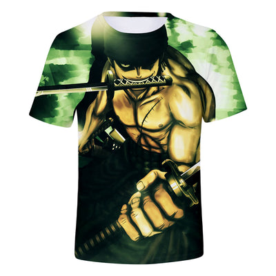 Anime One Piece   Men/Women  Cool Casual 3D Print T-shirt-Vimost Sports