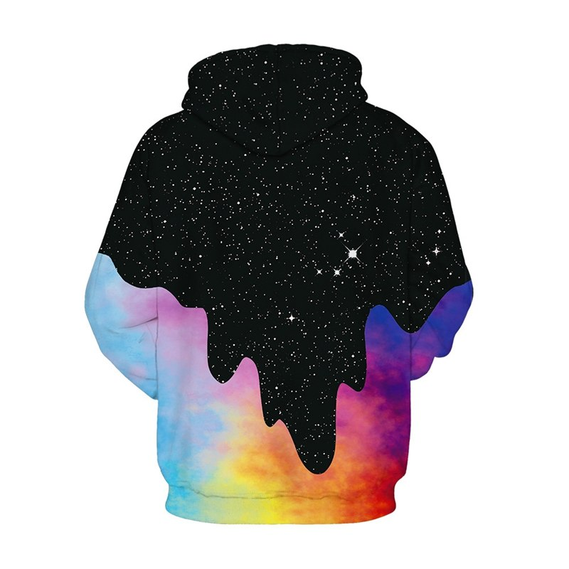 Plus Size Space Galaxy Pour Milk Hoodies Men Women-Vimost Sports