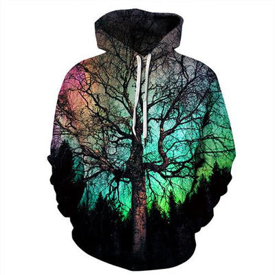 Galaxy Tree  3d Print  Hoody Tracksuit Streetwear-Vimost Sports