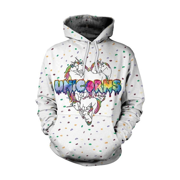 New Fashion Men Women  Unicorn 3D Printed Cartoon Hoodies-Vimost Sports
