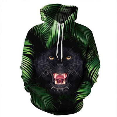 Plus Size Skull 3D Hooded Sweatshirt Long Sleeve-Vimost Sports