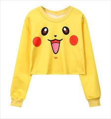 Girl Crop TopsHarajuku Cute Cartoon Printed Sweaters