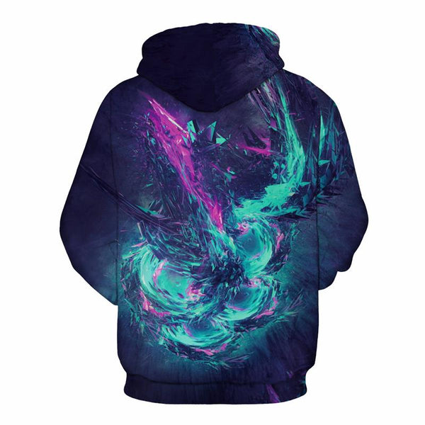 Galaxy Starry Printed 3D Hoodies-Vimost Sports
