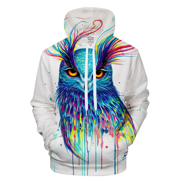 3d print Animal fashion Casual Hoodies