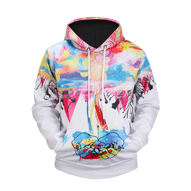 3d print Men/Women  Colorfull Graphic Pullovers