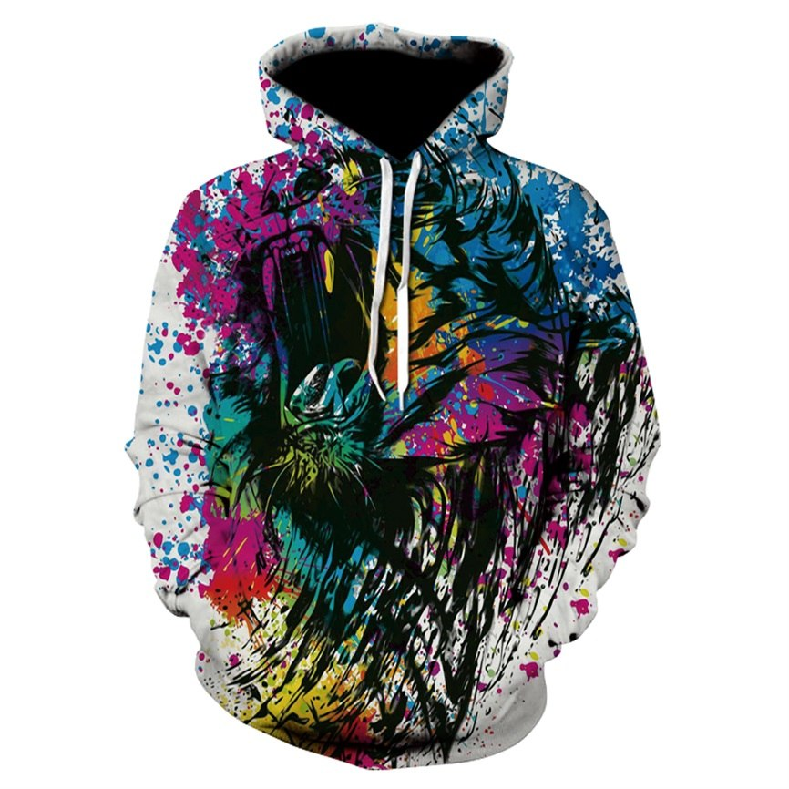 3d print Casual  Spring Autumn Hoodies