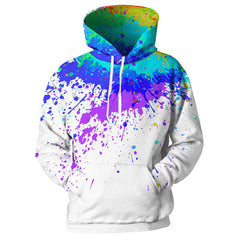 3d print harajuku Splash Paint Print Rainbow Hoodies-Vimost Sports