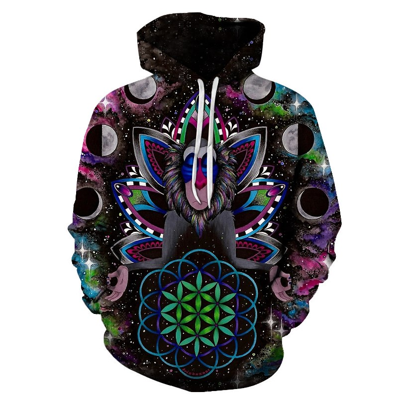 3d print Monkey Art Hoodies