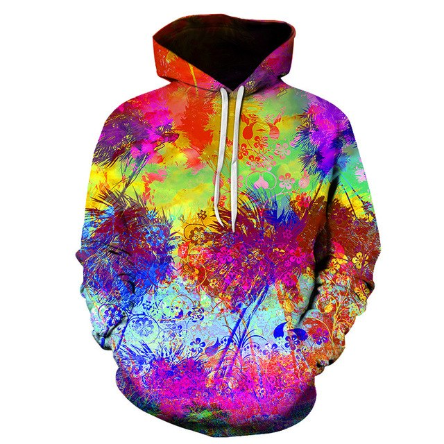 3d print Hot Sale Abstract painting Hoodies