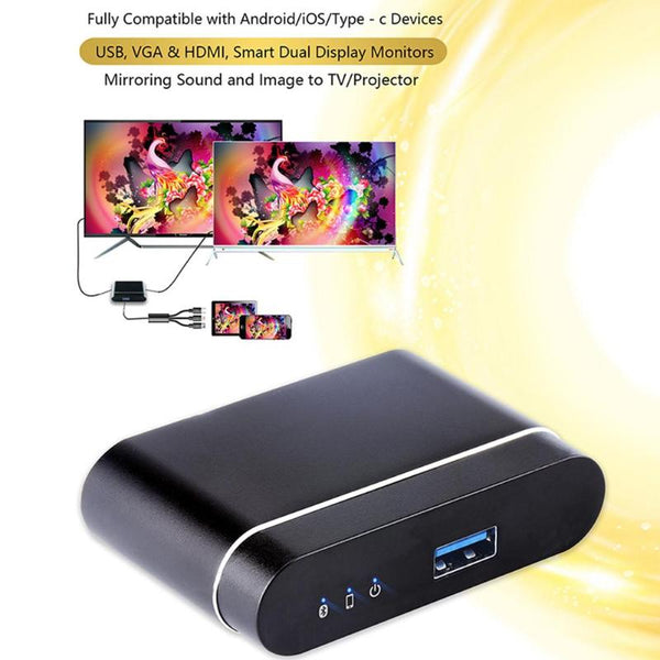 L9 Wired DLNA Miracast Airplay Screen Mirroring Dongle TV Stick Digital HDMI AV Output Video Streamer Display