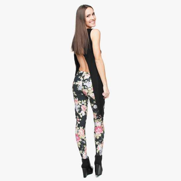 Hot Women Clothing Full Length 3D Graphic Full Print Fresh Flowers Leggings Sexy Fitness Punk Leggings Pants Workout