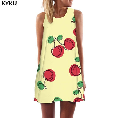 Rainbow Dress Women Colorful Boho Psychedelic Korean Style Graffiti Tank Dizziness Vestido Sexy