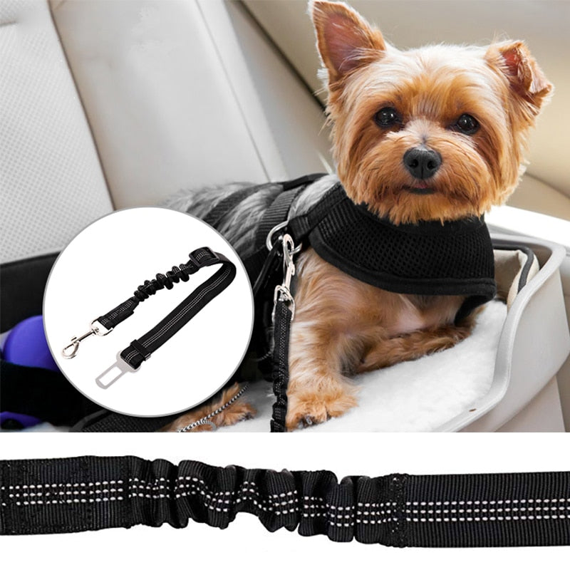 Adjustable Pet Seat Belt for Vehicle Nylon Pet Safety Seat Belts Heavy Duty & Elastic & Durable Car Seat Belt for Pet