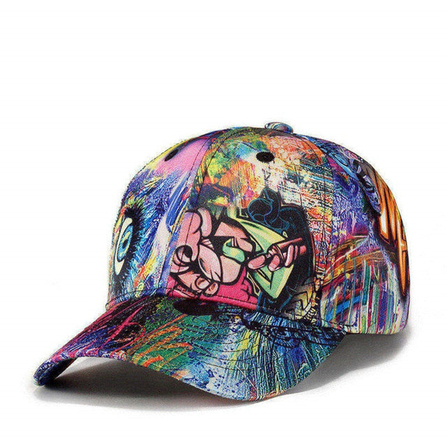 Graffiti Printed Baseball Cap Men Women