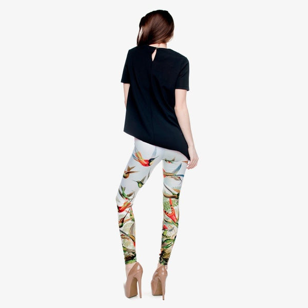 High Quality Birds of Paradise 3D Printing Women Legging Casual Pants Trousers Elasticity Leggings