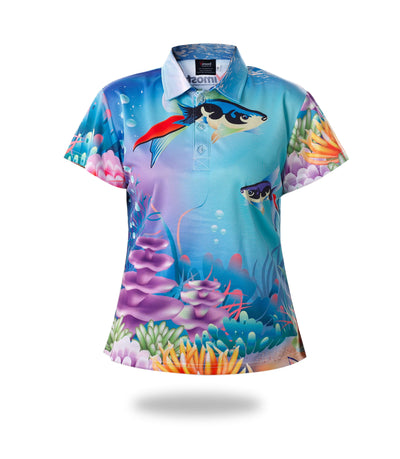 Short Sleeve Woman Fishing Shirts-Vimost Sports