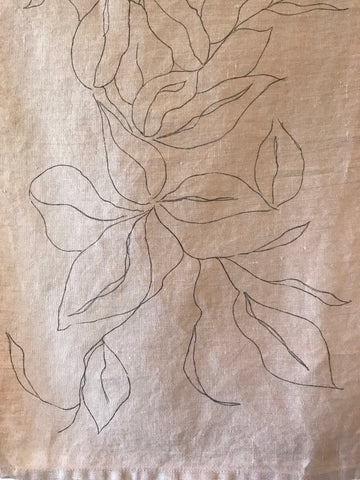 Linen Tea Towel - Hand Painted
