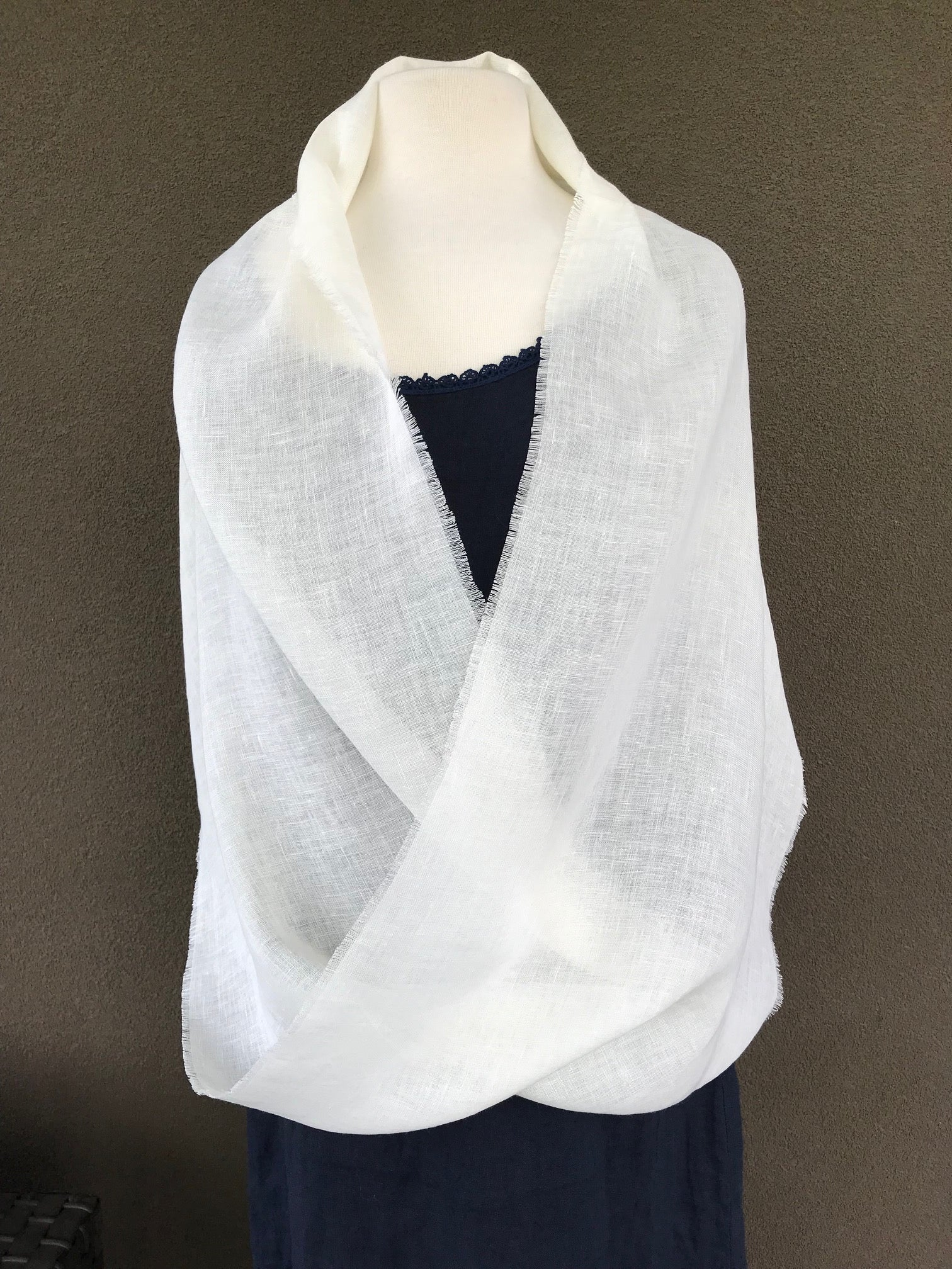 Linen Infinity Shawl and Cowl