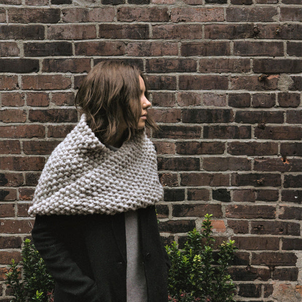 Tasia Shoulder Wrap - Chunky Knit Wrap