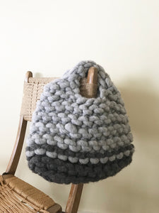 Wool top handle felted bag