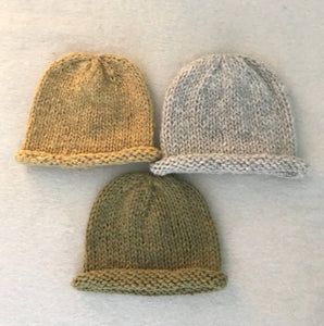 Rolled Brim Toque - Wool Cap