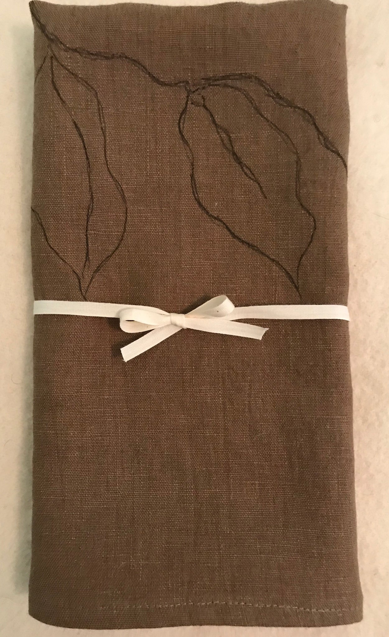 Extra long Vintage Linen Towels - set of 2