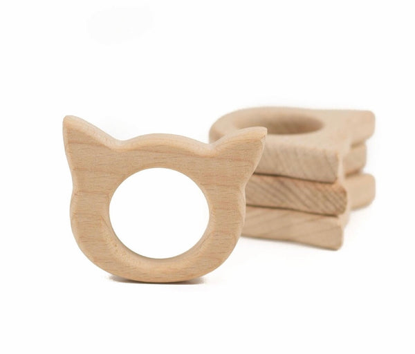 CHOOSE YOUR CHARACTER! Personalized Wooden Teether Ring