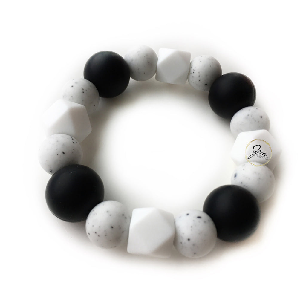 Monochrome Love - All Silicone Teething Ring