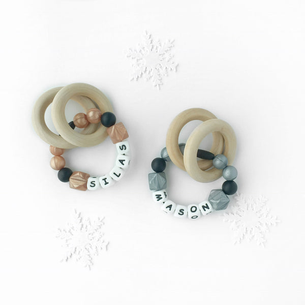 Metallic Personalized Convertible Infant Teethers