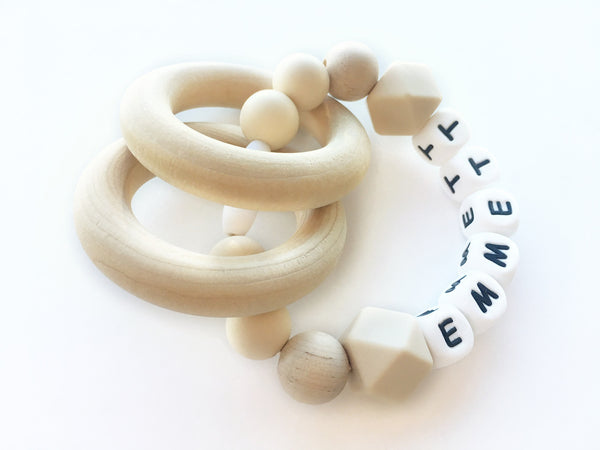 Natural Nude Personalized Convertible Infant Teether