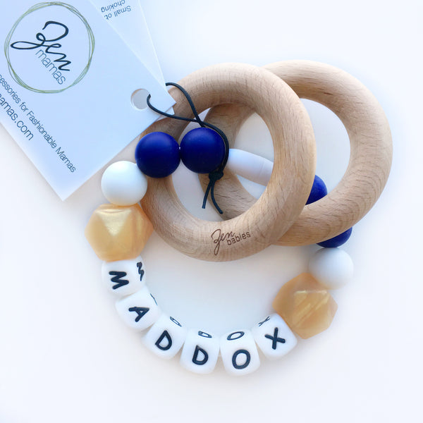 CUSTOM DESIGN Personalized Convertible Infant Teether