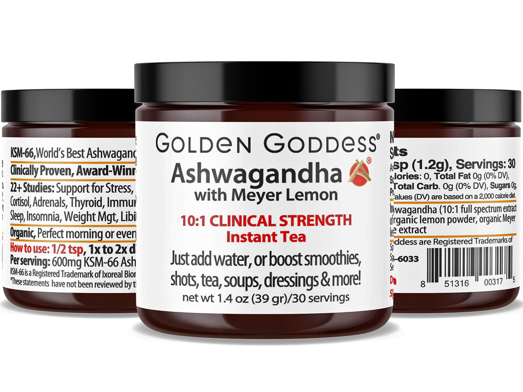 Golden Goddess® Ashwagandha with Meyer Lemon Clinical Strength Instant Tea