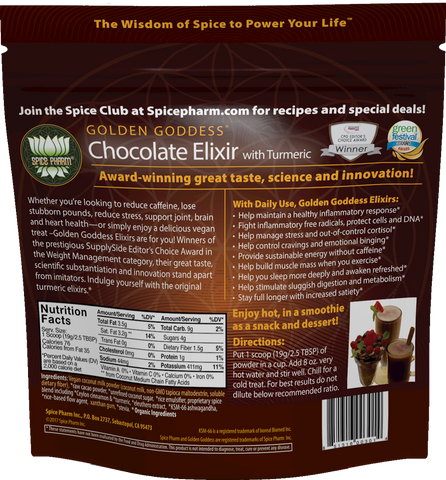 Golden Goddess® Chocolate Elixir with Turmeric