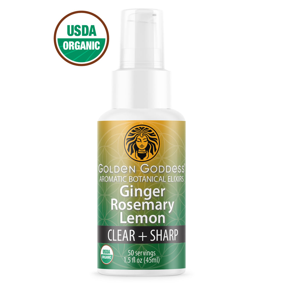 Golden Goddess® Ginger Rosemary Lemon Aromatic Botanical Elixir