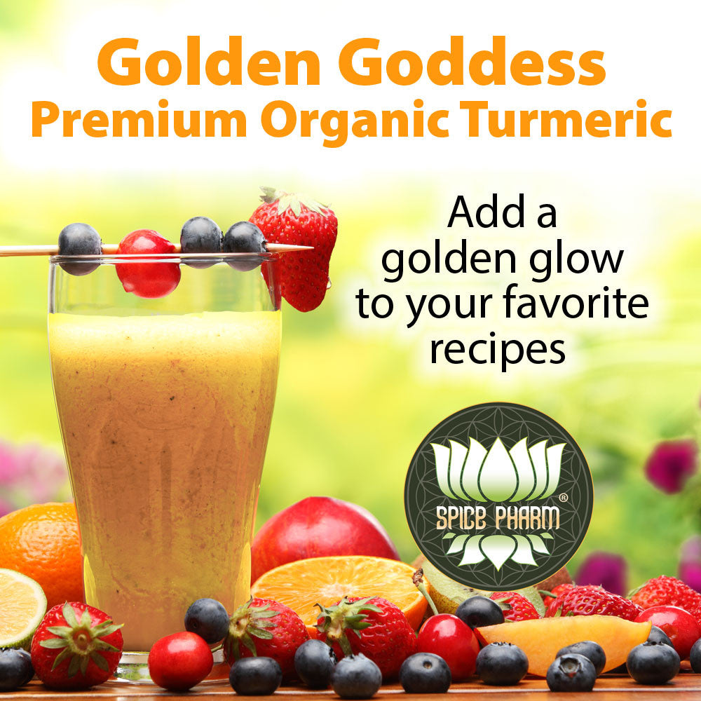 Golden Goddess® Organic Premium Turmeric Spice - Lab Tested 6+% Curcumin - Spice Pharm
