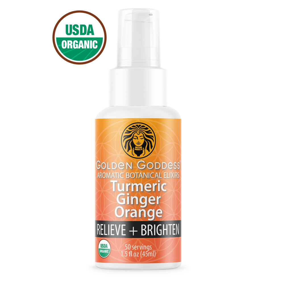 Golden Goddess® Turmeric Ginger Orange Aromatic Botanical Elixir