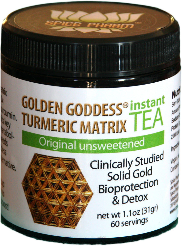Golden Goddess® Turmeric Matrix Instant Tea - Original Flavor - 60 Servings - Spice Pharm