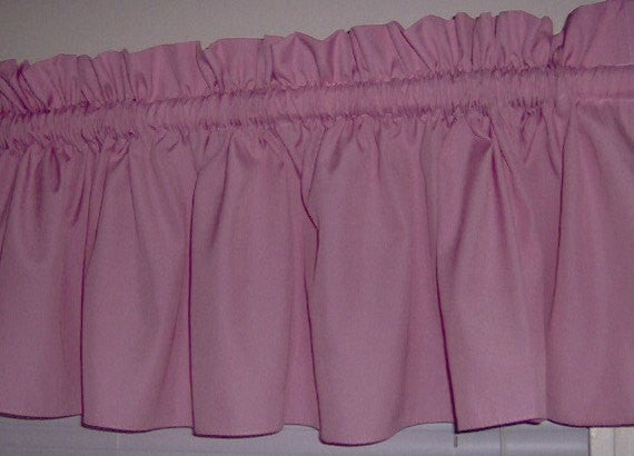 Country Pink Valance Curtain Window Treatment, 58 Inches Wide Custom rod Pocket and long. free shipping
